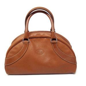 Longchamp Brown Leather Satchel Mini Purse Vintage